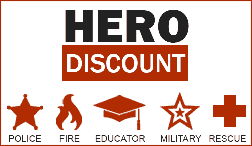 Trademark home inspection, LLC offers a heros dicount for police, fire, first-responders, military, and educators
